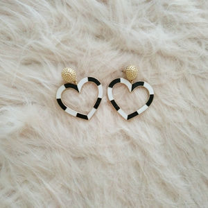 Jewelry - SUGARFIX by BaubleBar Heart Drop Earrings